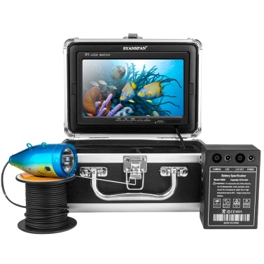 7 Inch 1200TVL Underwater Fishing Camera Fish Finder 12 Infrared LED Lamps 15M for Ice Sea Fishing