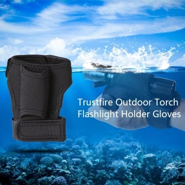 Trustfire Outdoor Torch Flashlight Holder Soft Neoprene Hand Arm Mount Wrist Strap Glove Hand Free