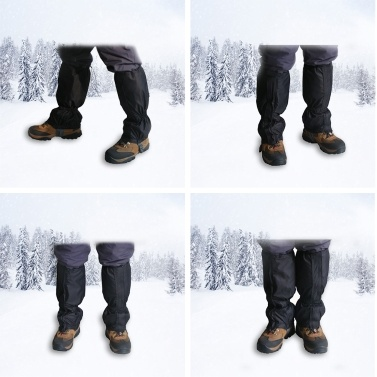 Leg Gaiters High Waterproof Snow Boot Shoe Cover with Zipper Adjustable Breathable Lightweight Windproof Sand Proof for Outdoor Hiking Skiing Backpacking Trekking Camping Climbing Snowshoeing