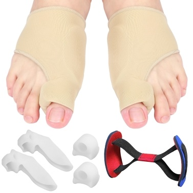 7pcs Bunion Corrector Set Bunion Relief Protector Sleeves Kit Toe Separators Spacers Straighteners Set