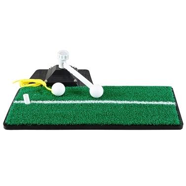 Golf Practice Swing Mat Golf Power Trainer Golf Grass Training Mat for Outdoor Indoor Home Garden Office