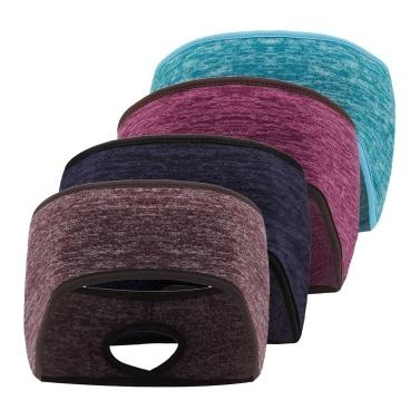4PCS Men Women Sport Headband Warm Windproof Polar Fleece Stretchy Running Cycling Yoga Hair Band Ribbon