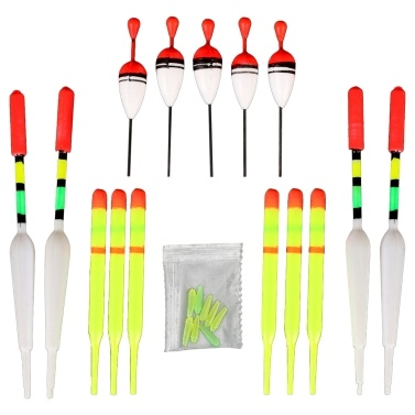 15pcs Fishing Float Assortment Mix Size Float Set Fishing Accessories