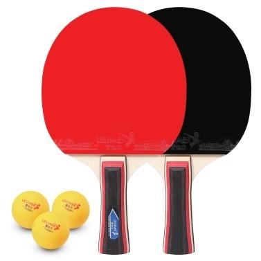 Tenis de mesa Juego de 2 jugadores 2 raquetas de palos de tenis de mesa