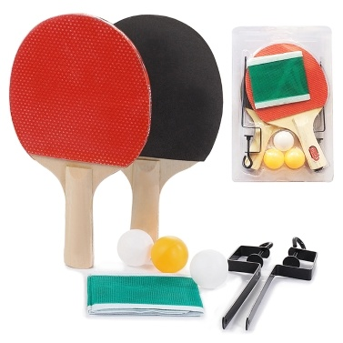 Portable Retractable Ping Pong Post Net Rack Ping Pong Paddles Quality Table Tennis Rackets Set Ping Pong Training Adjustable Extending Net Rack Paddle Bats Sports  Accessories Racquet Bundle Kit