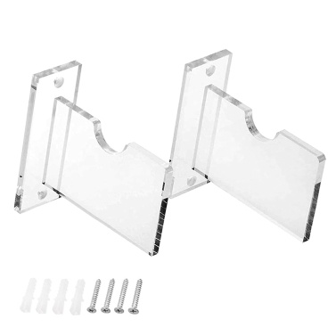 Hockey Stick Display Stand Acrylic Wall Mount Clear Ice Hockey Stick Supports Bracket Holder Horizontal Hanger for Any Home Or Office Wall