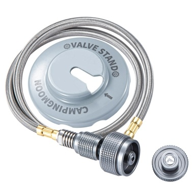 Gas Stove Adapter Hose with Fastener Base for Camping Cooking Picnic