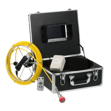 """110-7D1 7 """"LCD Monitor 960TVL CCD Pipeline Inspection Camera"""