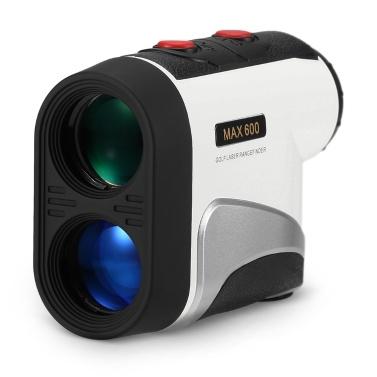 600M Golf Laser Entfernungsmesser Präzisions-Entfernungsmesser 6-fache Vergrößerung Entfernungsmesser Winkel-Höhen-Sucher für Golf Jagd Pferderennen