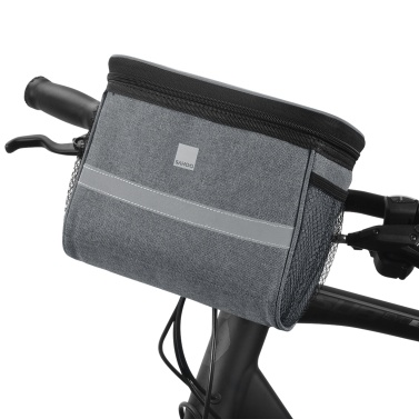 Bike Handlebar Bag Front Bicycle Basket with Mesh Pocket Cold & Warm Insulation Cycling Front Storage Bag Touchable Transparent Phone Pouch