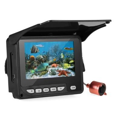 Telecamera da pesca subacquea portatile da 4,3 pollici Fish Finder Visione notturna impermeabile Barca da pesca con ghiaccio Cavo da 20 m con borsa per il trasporto