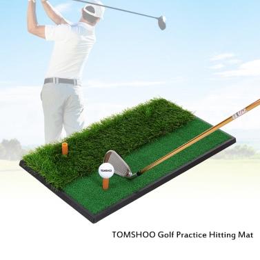 TOMSHOO Mini Golf Tee Golf Fairway Raue Turf Praxis Trainingsmatte Abschläge Raue Schüsse Praxis Golfabschlagsmatte