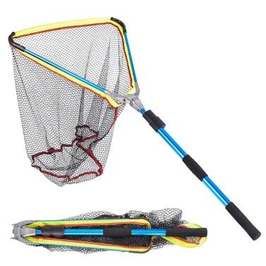 200センチメートル/ 79インチ伸縮式アルミニウム釣り延伸伸縮式ポールハンドル付きネットフィッシュネット