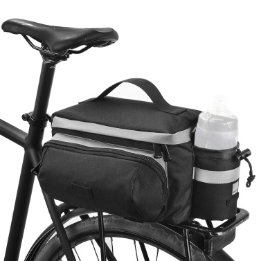 13L Bicycle Rear Seat Trunk Bag with Cup Holder Large Capacity Rear Panniers Bag Reflective Rear Saddle Bag MTB Road Bike Bag Bicycle Storage Bag Hand Bag Bike Accessories