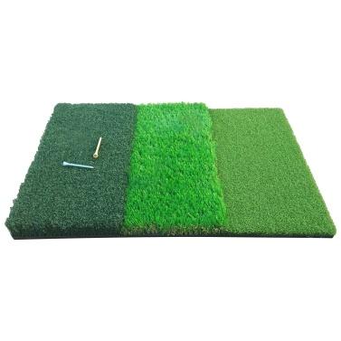 Golf Practice Mat Tri-Turf Golf Hitting Mat Driving Chipping Training Aids Golf Grass Mat for Indoor & Outdoor