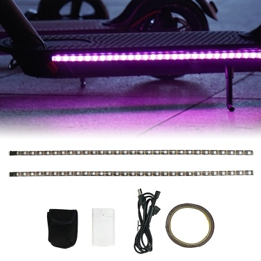 LED Strip Flashlight Strip Multiple Color Switching Water Resistant Night Light Strip Bars Replacement for Xiaomi Electric Scooters Skateboards