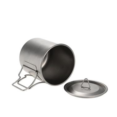 Docooler 420ml Titanium Water Cup Picnic Camping Mug with Lid