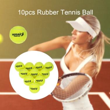 10pcs / bag Tennis Training Ball der Praxis hohe Schlagfertigkeit Durable Tennisball-Trainingsbälle für Anfänger Wettbewerb
