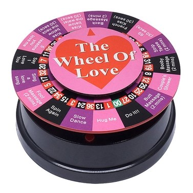 Mini Wheel of Love Wheel of Fortune with 17 Ways for Playing Games Portable Party Game Gift Set Bundle