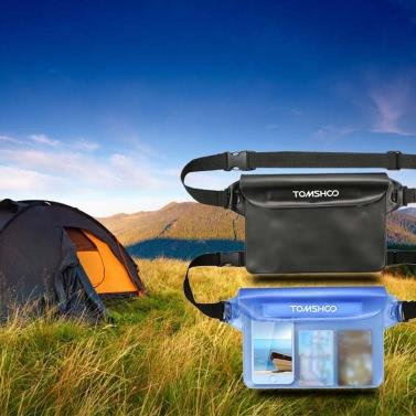 TOMSHOO 2 Pack Outdoor Sports Waterproof Pouch