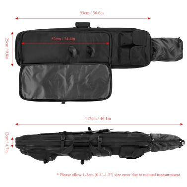 """Lixada 36"""" Outdoor Padded Barrel Carrying Bag Hunting Shooting Gear Scabbard Sheath with Shoulder Sling Strap"""