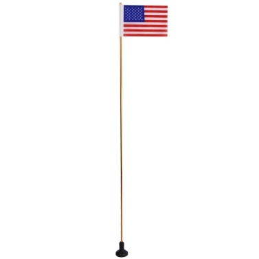 1.2M Collapsible Safety Flag with Rail Mount Base for Marine Boat Canoe Kayak