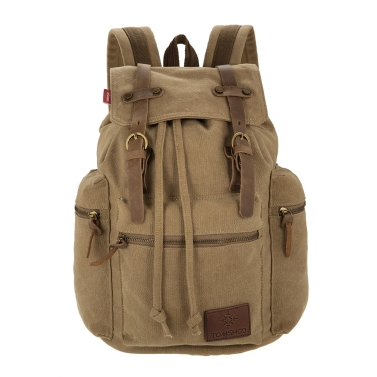 TOMSHOO Multifunction Canvas Backpack Vintage Shoulder Bag
