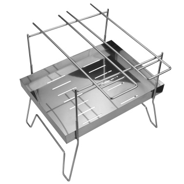 Outdoor Stainless Steel Grill Portable Barbecue Grid BBQ Grill Charcoal Grill for Outdoor Camping Picnic Home Park