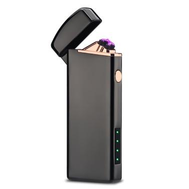 デュアルアーク電子シガーライターusbメタル充電式防風無炎電気ライタープラズマシガーライター