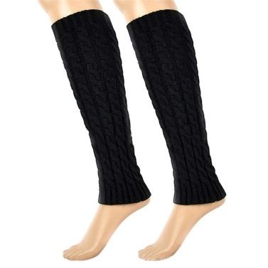 Winter Frauen gestrickt häkeln Oberschenkel Beinwärmer