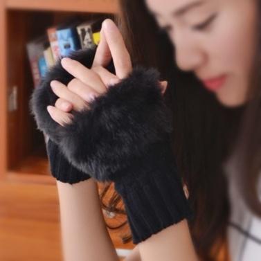 Women Winter Elegant Mitten Gloves