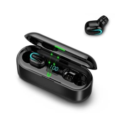 Fone de ouvido sem fio estéreo portátil TWS 5.0