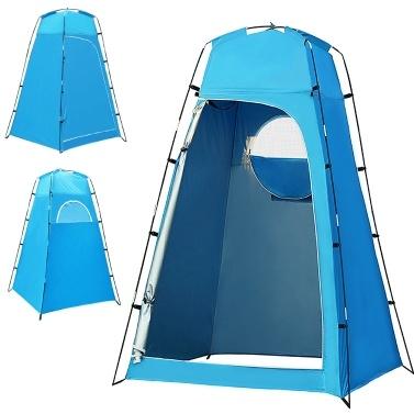 Privacy Shelter Tent Portable Outdoor Shower Toilet Changing Room Tent with Removable Bottom for Camping Beach Photography