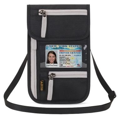 Flughafen Travel Neck Pouch Neck Wallet Versteck Pass Inhaber Dokument Organizer