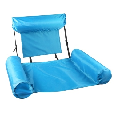 Swimming Pool Floating Hammock Inflatable Floating Bed Recliner Chair Raft Water Fun Pool Lounge