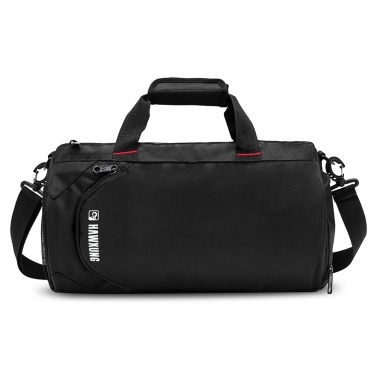 33L Travel Duffel Bag with Shoes Compartment and Wet Pocket Waterproof Sports Gym Bag Weekender Bag for Men and Women( Light grey)