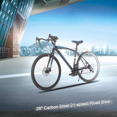 "Lixada 26 ""Carbon Steel Bike 21-Gang Schaltung Rennrad-Fahrrad"
