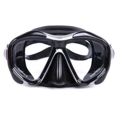 Männer Frauen Anti-Fog-Tauchen Schnorchel Maske Zwei-Fenster Tauchmaske Schwimmbrille Schwimmen Ausgeglichenes Glas-Objektiv flexible Silikon-Rock-PC Feld Erwachsenen Maske