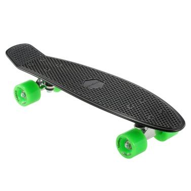 TOMSHOO 22 Zoll Skateboard Cruiser Board PU Räder Skate Board Komplettes Deck Skateboard