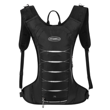 3 Liters Cycling Hydration Backpack Lightweight Water-resistant Daypack Bag Outdoor Riding Hiking Running Camping