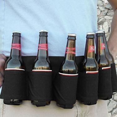 Al aire libre Six Pack Portable Beer Bottle Belt