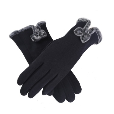Frauen-Winter-warmer weicher Fullfinger Touch Screen Handschuh