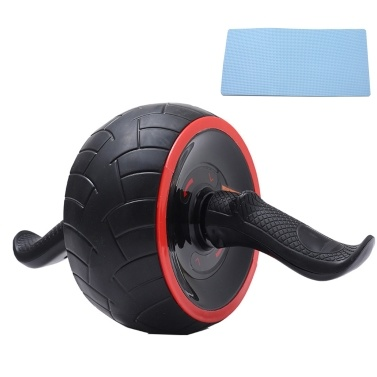 Abdomen Roller Ab Wheel Ball Self-Resilient Muscle Exercise Abs Belly Fitness Training Detachable Handle Anti-Slip Tire Home Gym