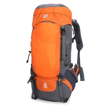 65L Hiking Backpack Waterproof Outdoor Sport Travel Daypack for Men Women Camping Trekking Touring