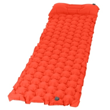 Inflatable Camping Sleeping Pad Mat with Pillow for Backpacking Traveling Hiking Pad