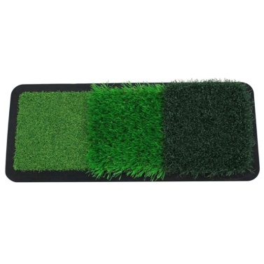 Golf Hitting Mat with Rubber Tee Holder Golf Training Aids Driving Chipping Putting Golf Hitting Grass for Indoor & Outdoor(Single turf)