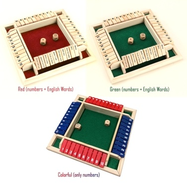 Wood Four Sided 10 Numbers Board Game Set