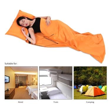 TOMSHOO 75 * 210 centímetros Exteriores Viagens Camping Caminhadas Poliéster Pongées saudável saco de dormir forro com fronha portátil leve Business Trip Hotel