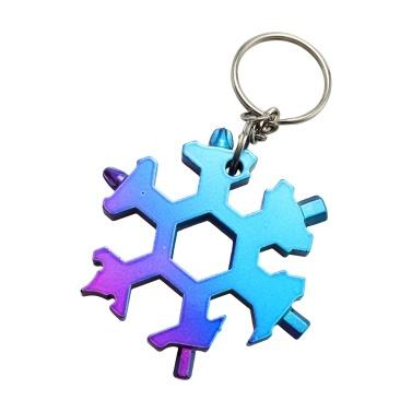 19 in 1 Schneeflocke Form Multifunktionsschlüssel Werkzeuge