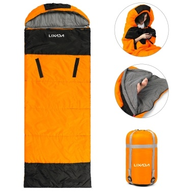 Lixada Envelope Sleeping Bag with Zippered Holes for Arms and Feet Outdoor Camping Hiking Backpacking Traveling